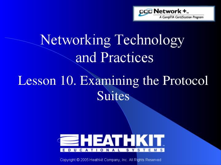 lesson 10 examining the protocol suites n.