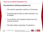 how can we define evaluation 2