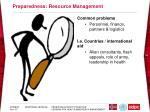 preparedness resource management