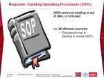 response standing operating procedures sops