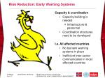 risk reduction early warning systems
