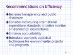 recommendations on efficiency1