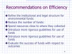 recommendations on efficiency2