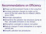 recommendations on efficiency3