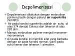 depolimerisasi