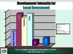 development intensity for local government