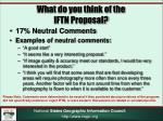 what do you think of the iftn proposal1