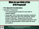 what do you think of the iftn proposal3