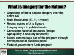 what is imagery for the nation