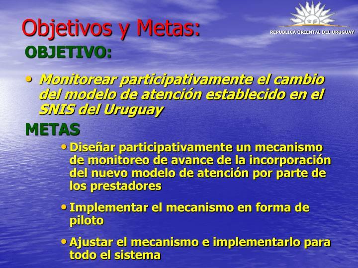 Objetivos y Metas: