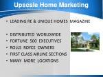 upscale home marketing