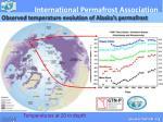 observed temperature evolution of alaska s permafrost
