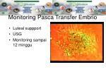 monitoring pasca transfer embrio
