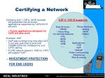 certifying a network