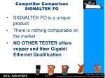 competitor comparison signaltek fo