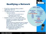 qualifying a network