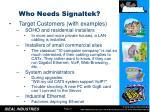 who needs signaltek1