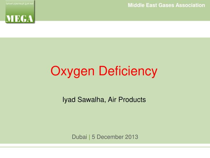 oxygen deficiency iyad sawalha air products n.
