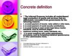 concrete definition
