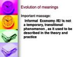 evolution of meanings