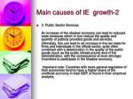 main causes of ie growth 2