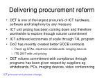 delivering procurement reform