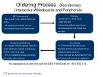 ordering process discretionary interactive whiteboards and peripherals