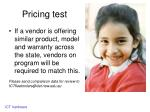 pricing test