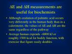 d e and d h measurements are useful for biochemists