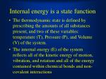 internal energy is a state function