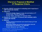 choi et al proposal of modified ct response criteria