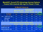 metagist overall pfs advantage among patients treated with imatinib 800 mg d in phase 3 trials