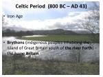 celtic period 800 bc ad 43