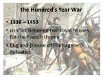 the hundred s year war