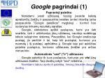google pagrindai 1
