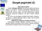 google pagrindai 2