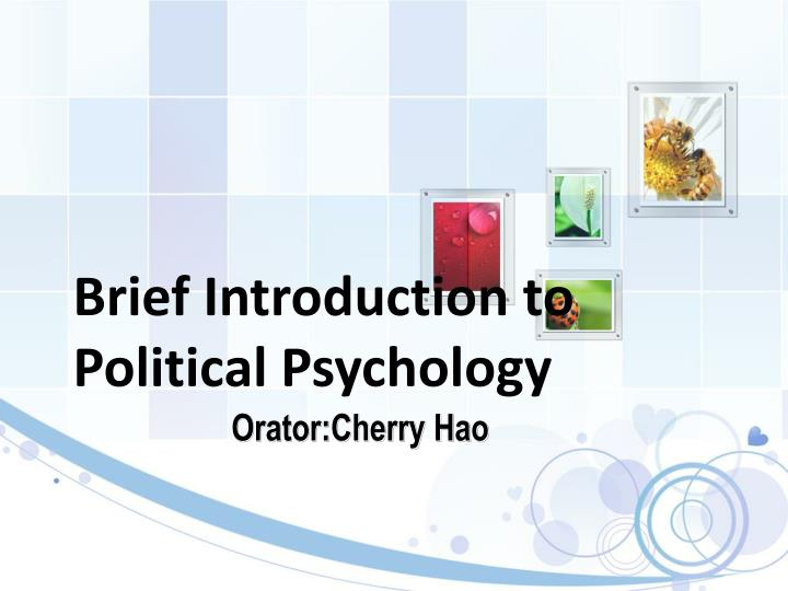 brief introduction to political psychology n.