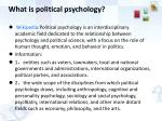 what is political psychology