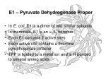 e1 pyruvate dehydrogenase proper
