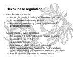 hexokinase regulation