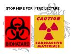 stop here for intro lecture