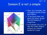 domain e is not z simple
