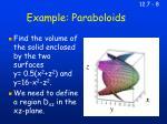 example paraboloids