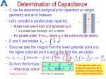 determination of capacitance