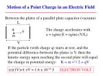 motion of a point charge in an electric field1
