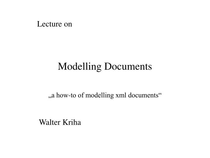 modelling documents n.
