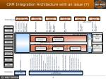 crm integration architecture with an issue
