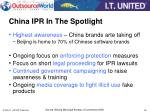 china ipr in the spotlight