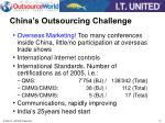 china s outsourcing challenge