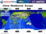 china westbound europe